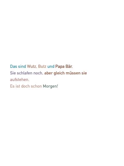 Seitenvorschau Wutz, Butz und Papa Bär